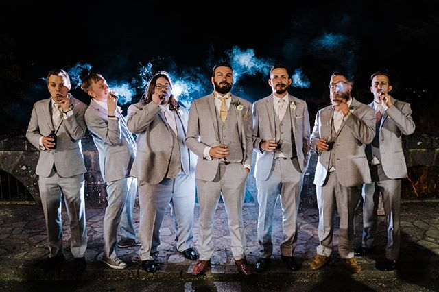 The guys 😎 These guys came from all over the country to support the groom.  #groomsmen #groom #weddinginspo #groomstyle #hoodriver #columbiagorgehotel #oregonweddingphotographer #pnwweddings #resourceweddings #focalpointstudios #focalpointweddings