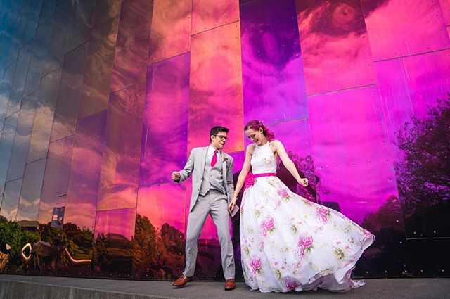Happy Anniversary to these two! May the fourth be with you 🤓 #maythe4thbewithyou #maythe4thwedding #seattlewedding #seattlebride #colorfulwedding #pinkweddingdress #floralweddingdress #bridalstyle #groomsuit  #weddingphotography #she_saidyes #oregonweddingphotographer #pnwweddingphotographer #focalpointweddings #focalpointstudios #anniversary #adventurebrides #couplesphotography #justalittleloveinspo #muchlove_ig #radlovestories #oregonphotographer #wanderingphotographers #mopop #museumofpopculture #heywildweddings #resourceweddings #emotionsurfers #pnwwildlove #starwarsday