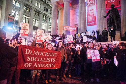 dsa wall st protest