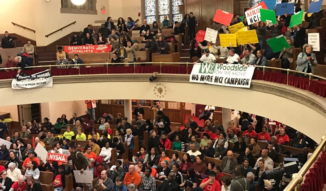 April 11 Moral March for Housing at the Abyssinian Baptist Church, Harlem