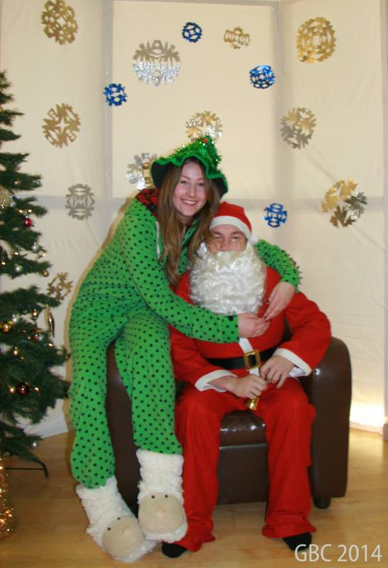 Santa Dylan at the North pole