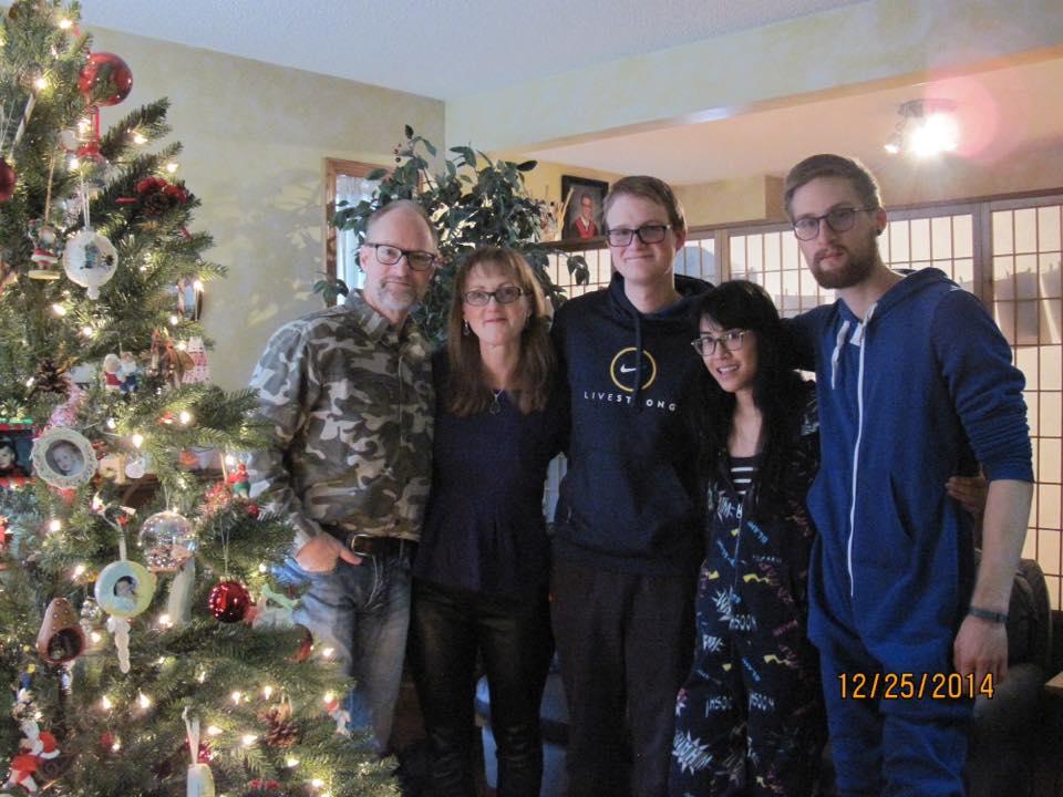 Justin and Katrina with Justin's Family in Calgary.
