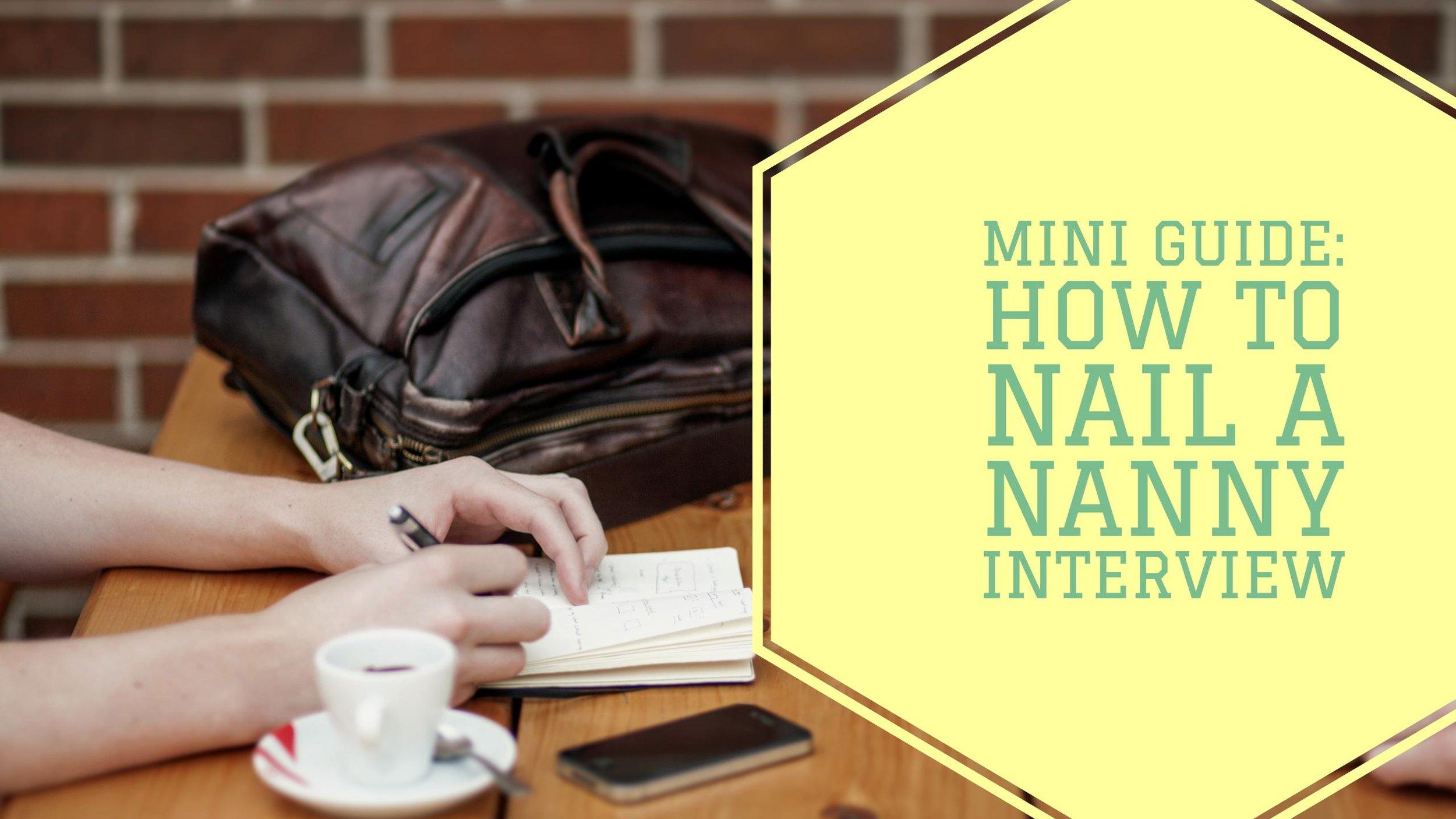 MiniGuide: Nanny Interview