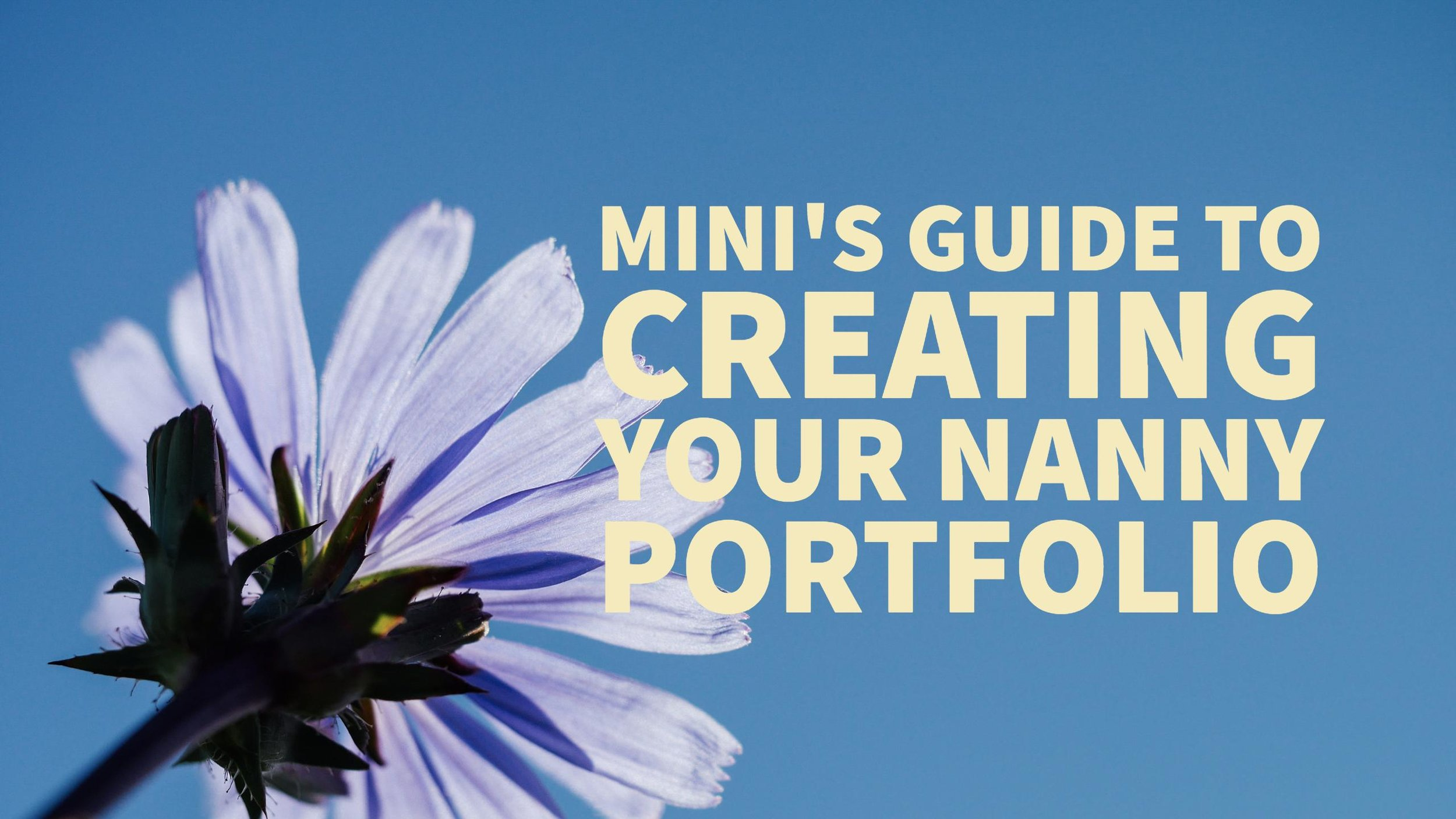 mini's guide to nanny portfolios