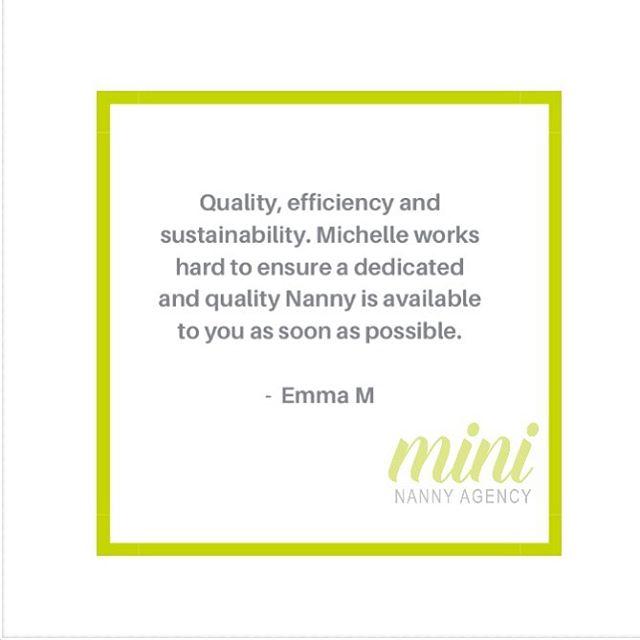 We appreciate the kind words Emma! 💥 💥💥 #clientsrule #nannyjobs #brisbanejobs #mininannyagency #ineedajob #ineedananny #brisbanekids #brisbanefamilies #busyfamilylife #lovewhatyoudo