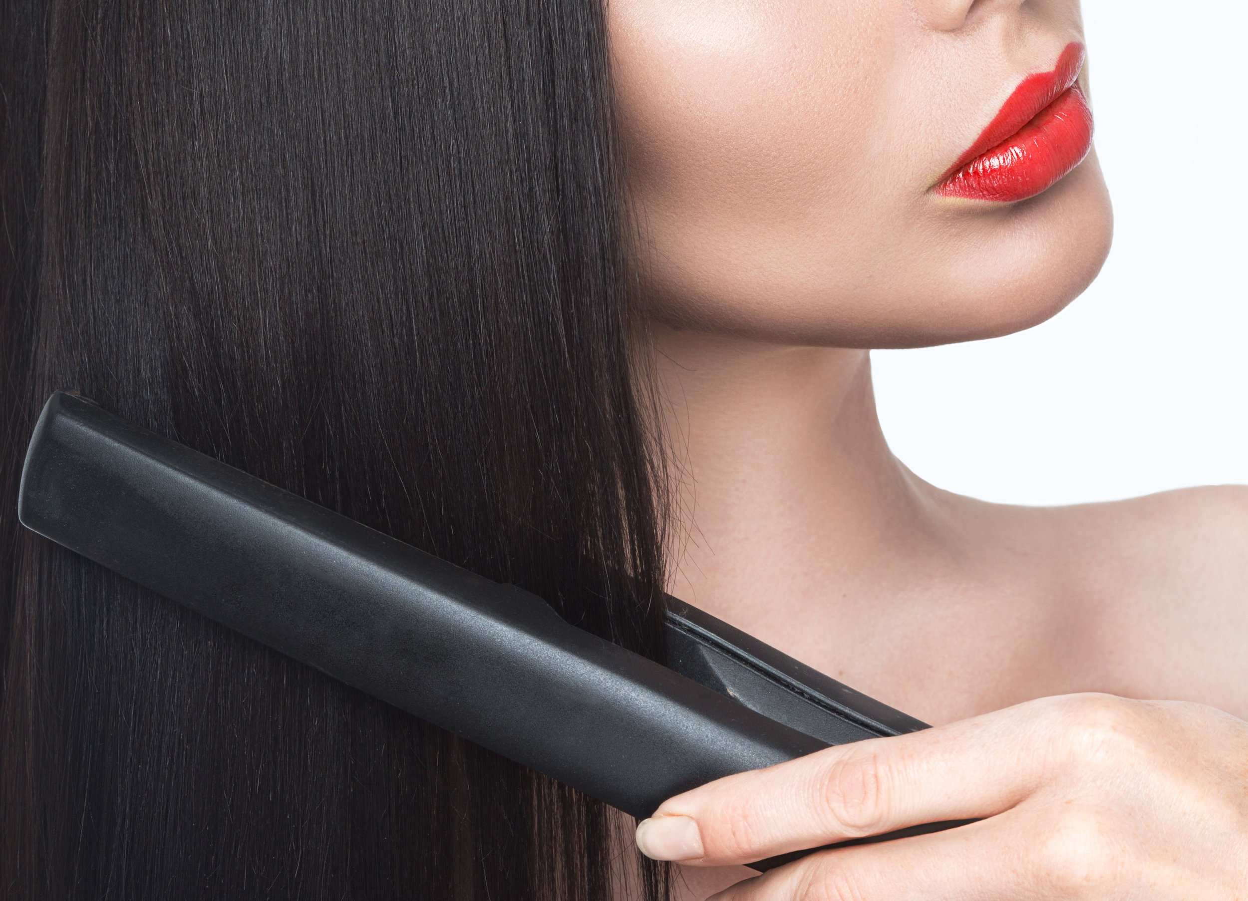 This process includes straightening your hair, this will seal in the protein in your hair.