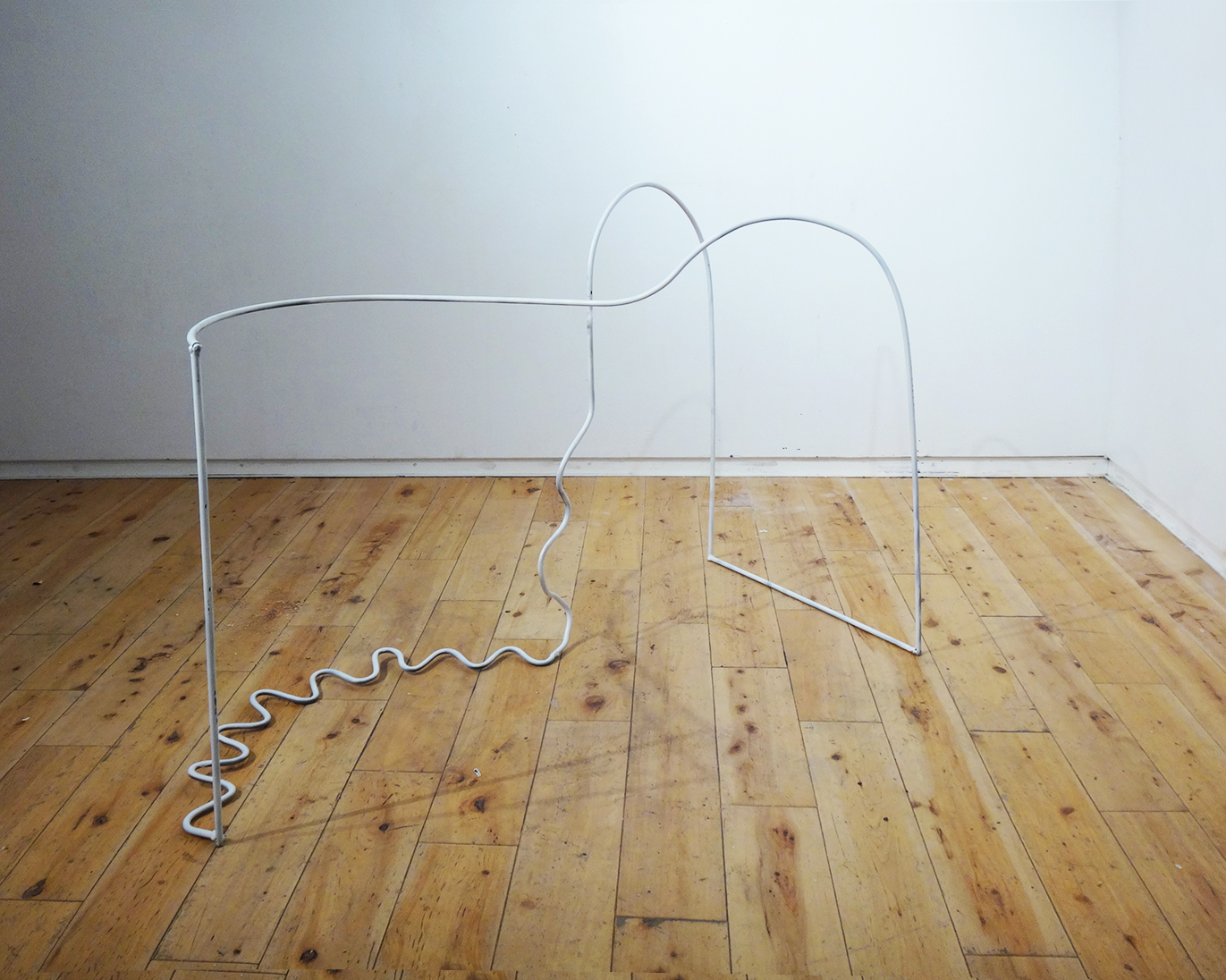 Made at Ox-Bow School of Art and Artists' Residency; recipient of Portfolio Merit Scholarship, 2019, steel and spray paint