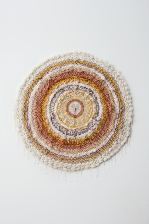 Heide Colour Spectrum, natural plant dyed fleece, cotton warp string