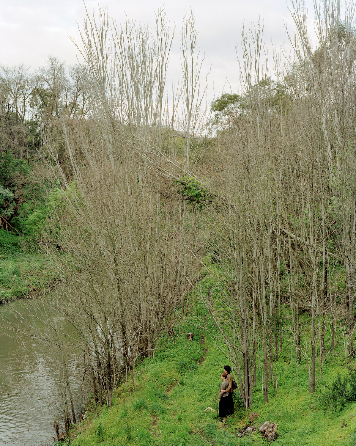 Crossing the Merri, chromogenic print, 135 x 108 cm