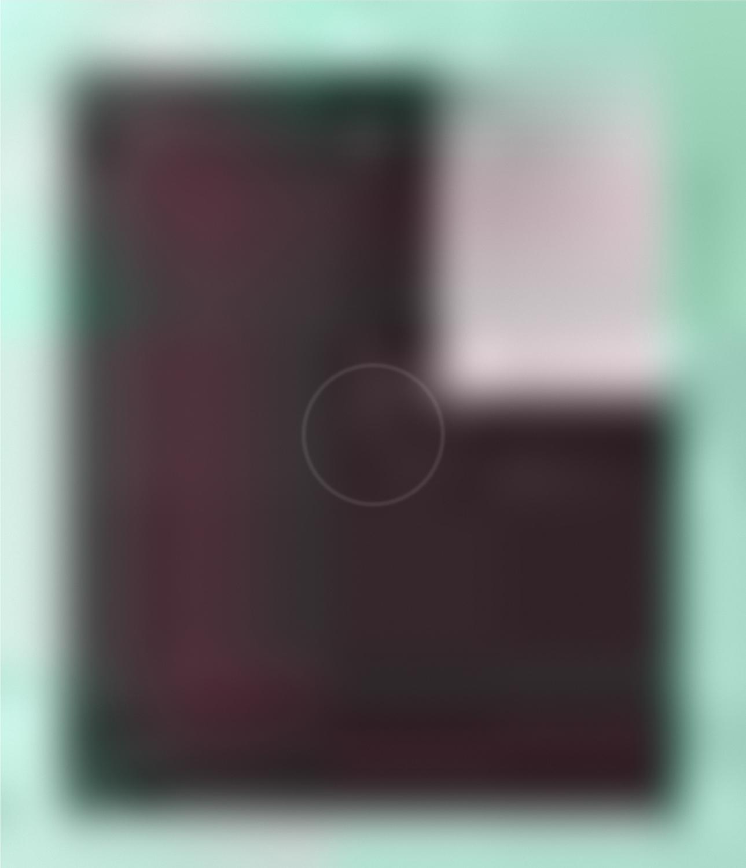 Magenta black three quarter square, Siri Hayes, 2017, Inkjet on cotton rag art paper, 77 x 77cm