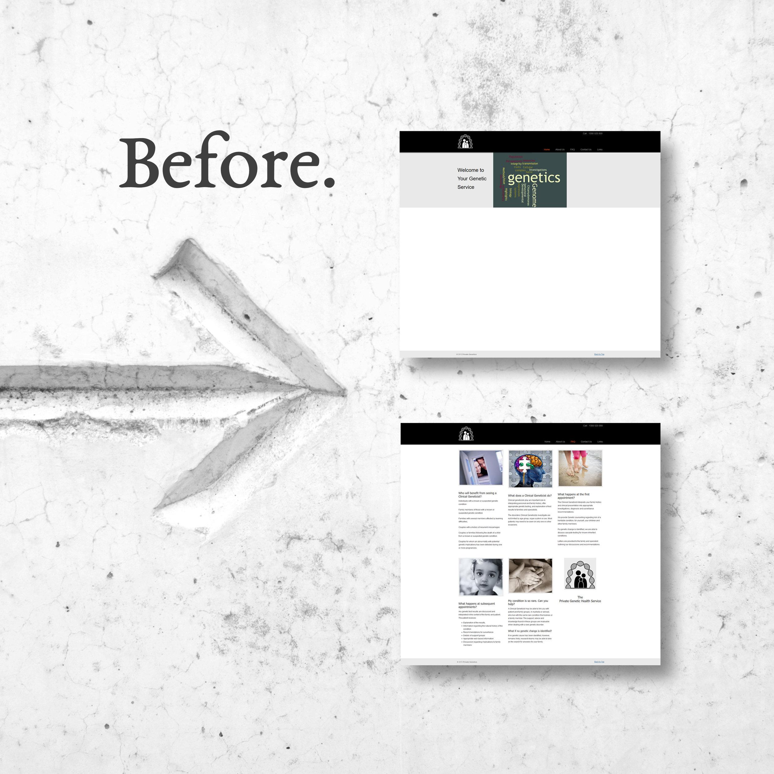 Private Genetics Website Homepage 2017 Before.jpg