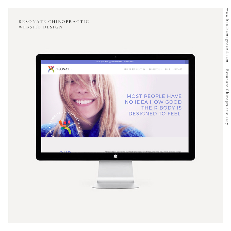 Sqaurespace Chiropractor website design