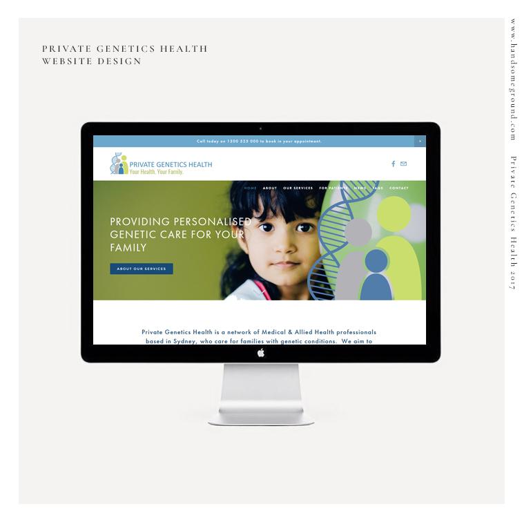 Genetics Helathcare Squarespace Website Design