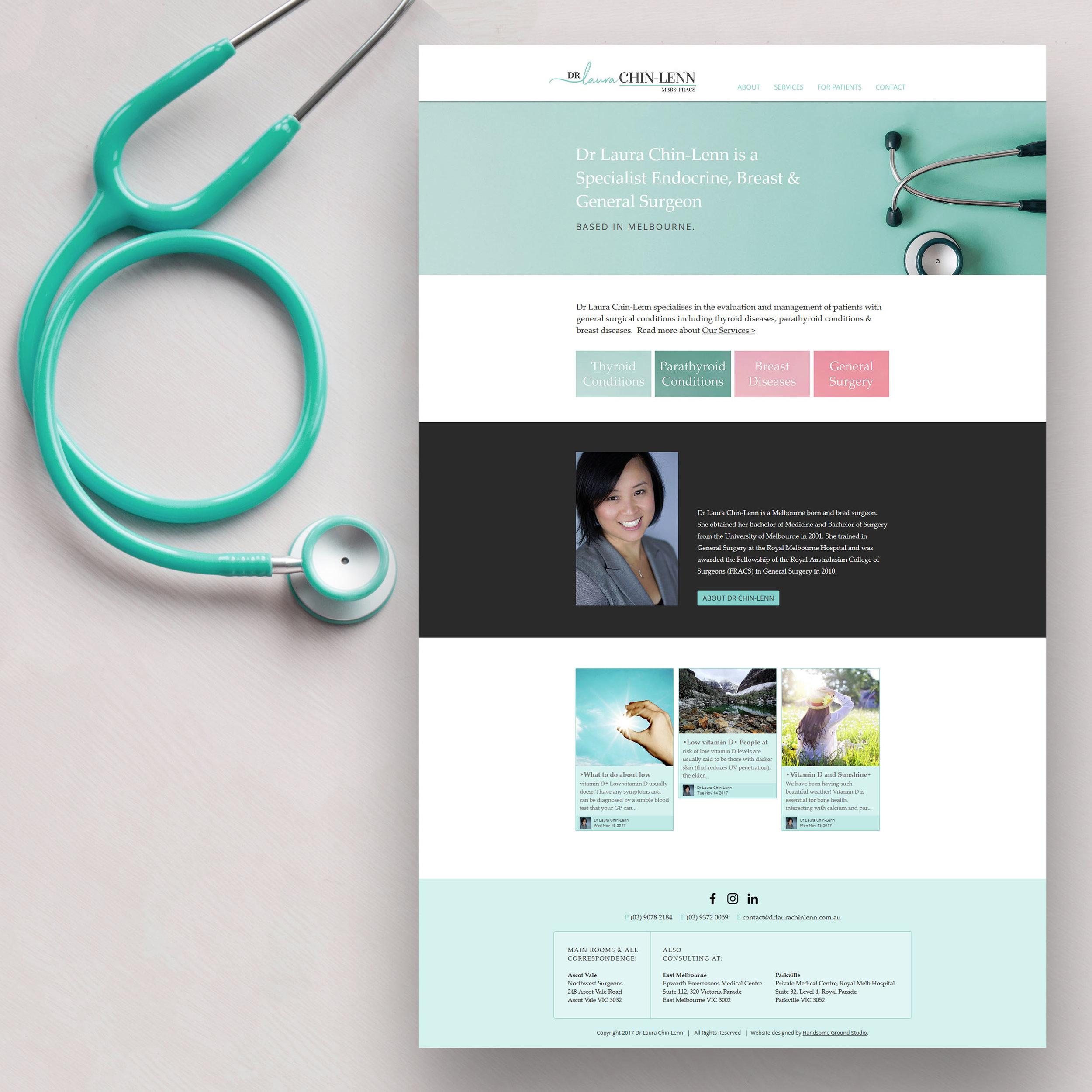 Specialist Surgeon Website designed by Handsome Ground Studio