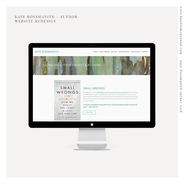 Author Squarespace Website designed by Handsome Ground Studio