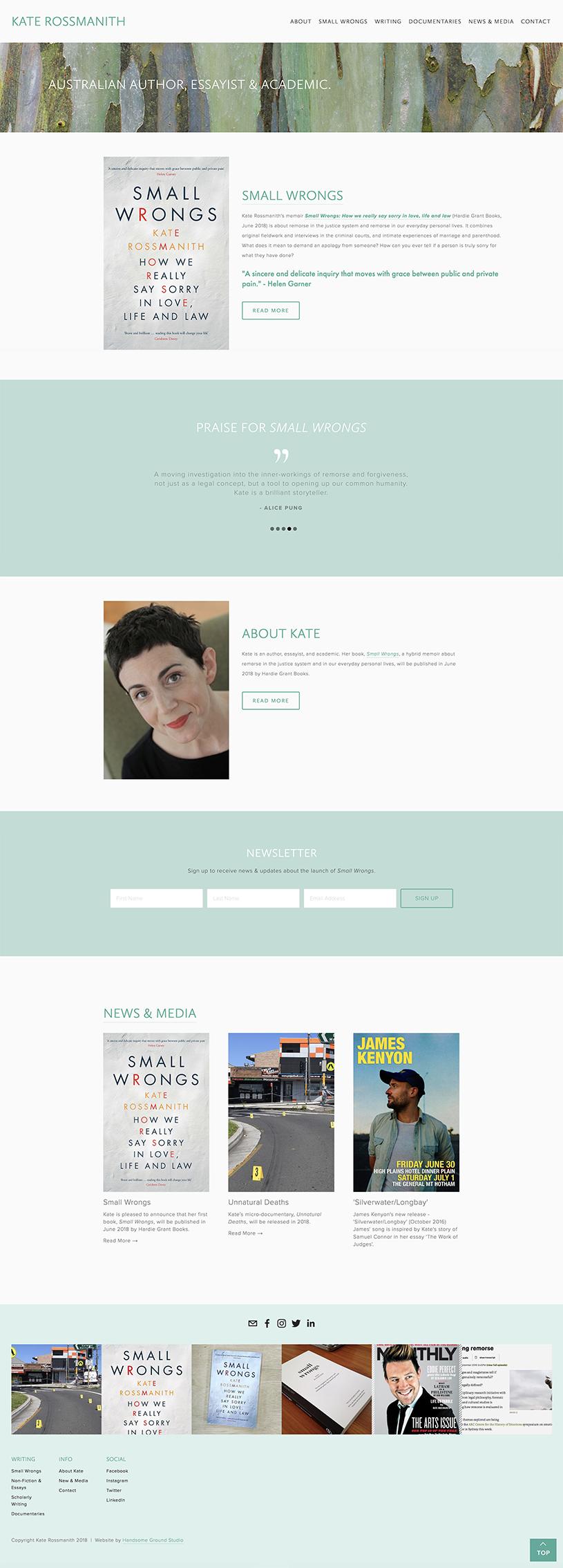 Author Squarespace Website by Handsome Ground Studio