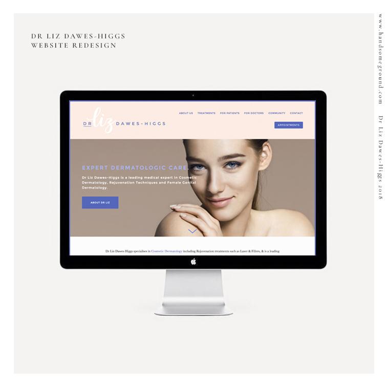 Dermatologist website designed by  Handsome Ground Studio .