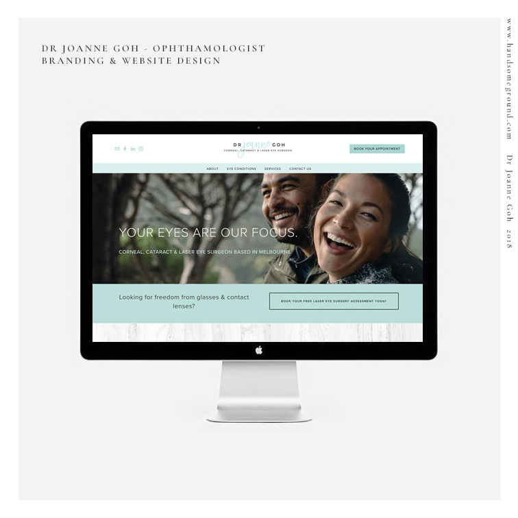 Laser Eye Surgeon Website designed by Handsome Ground Studio Canberra