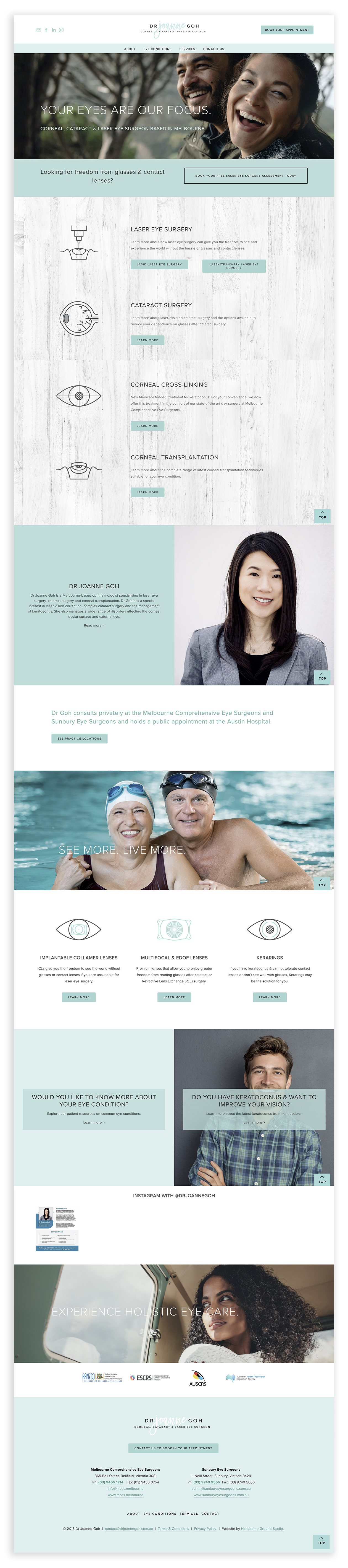 Website Design & Branding for Laser Eye Surgeon Ophthamologist Melbourne