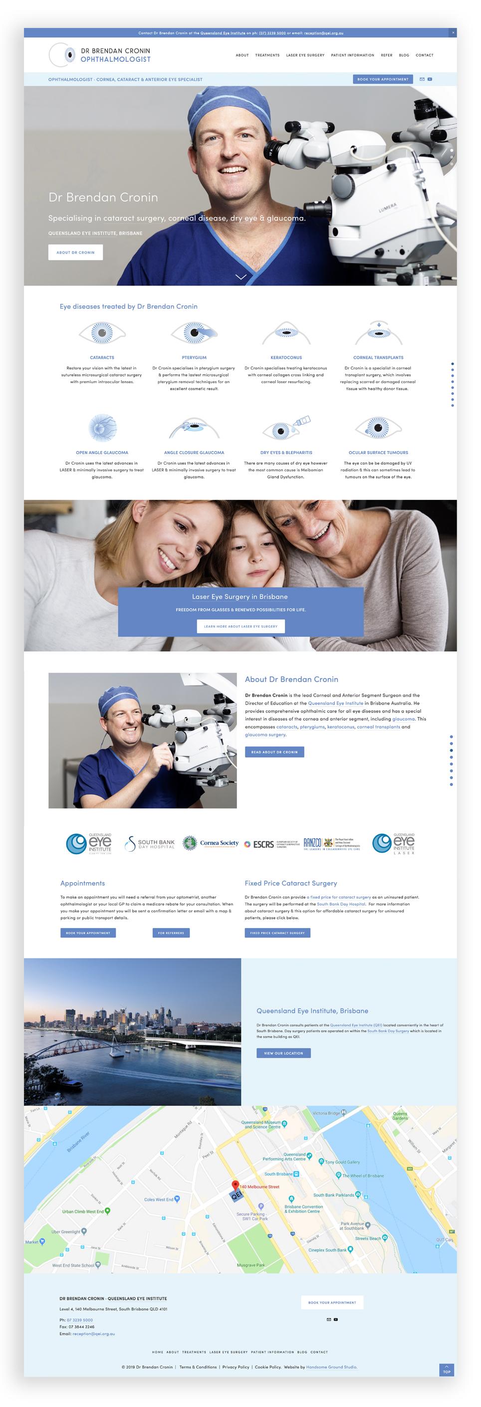 Website Design & Branding for Ophthalmologist Brisbane