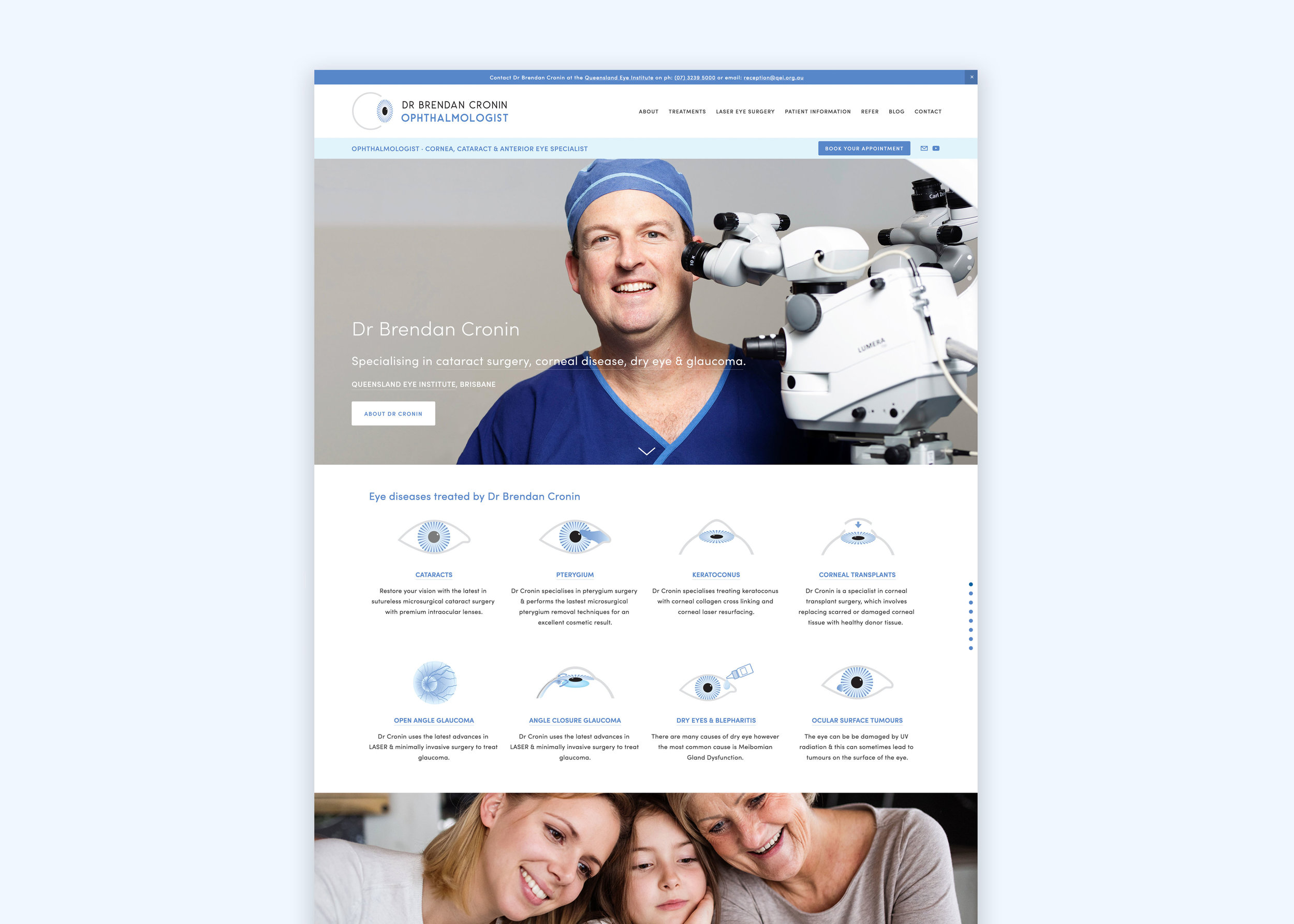 Ophthalmologist Branding & Website Design