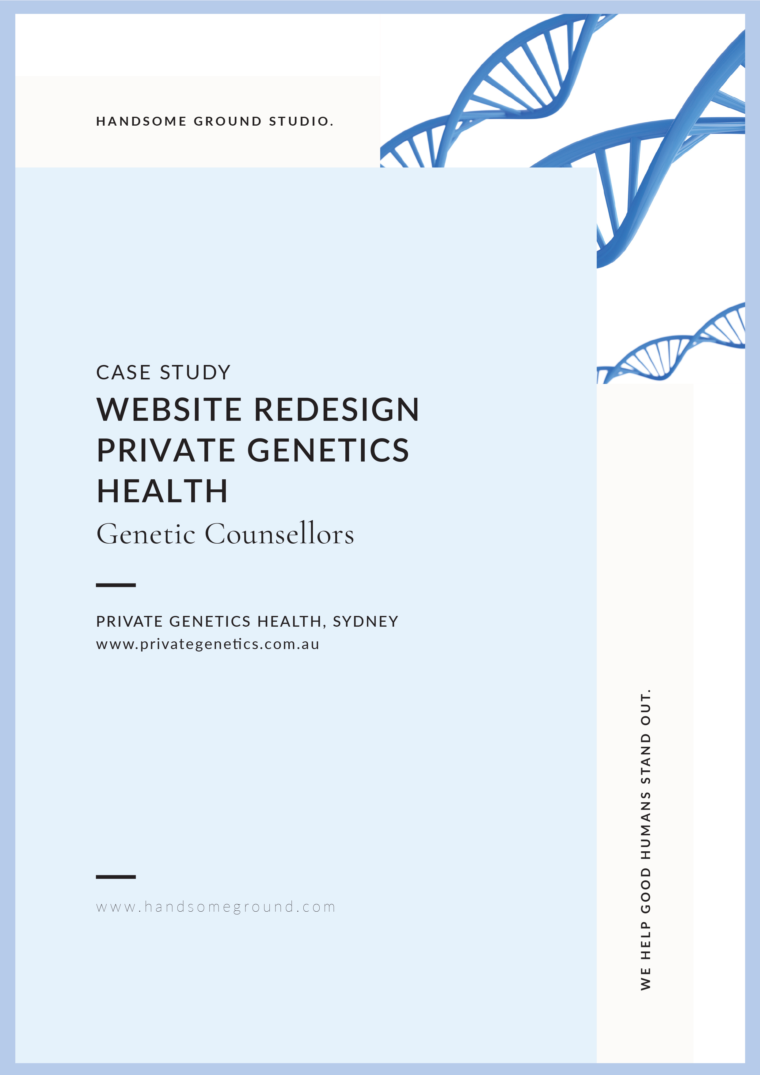 Website redesign for Private Genetics Health, Genetic Counselling Services based in Sydney