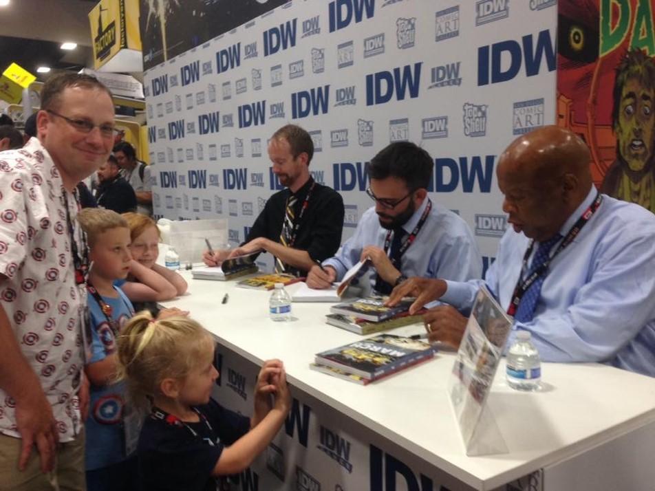 Meeting Congressman John Lewis at San Diego Comic Con - wow!