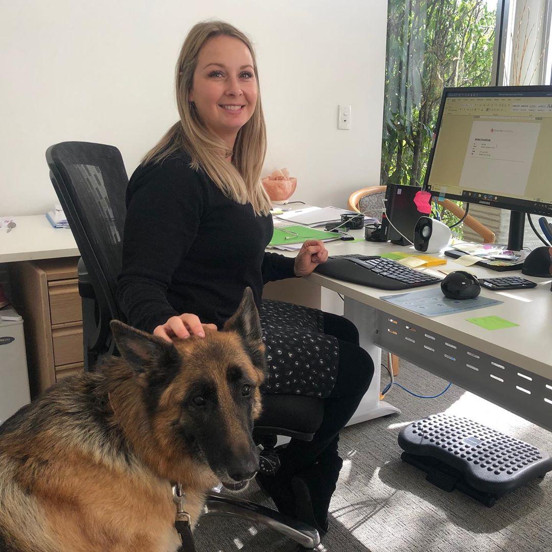 """Fotos del primer día de """"Lleva a Tu Perro al Trabajo"""" en  @stirlinghospital"""