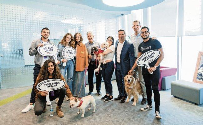 """Foto del primer día de """"Lleva Tu Perro al Trabajo"""" en Nestlé México"""