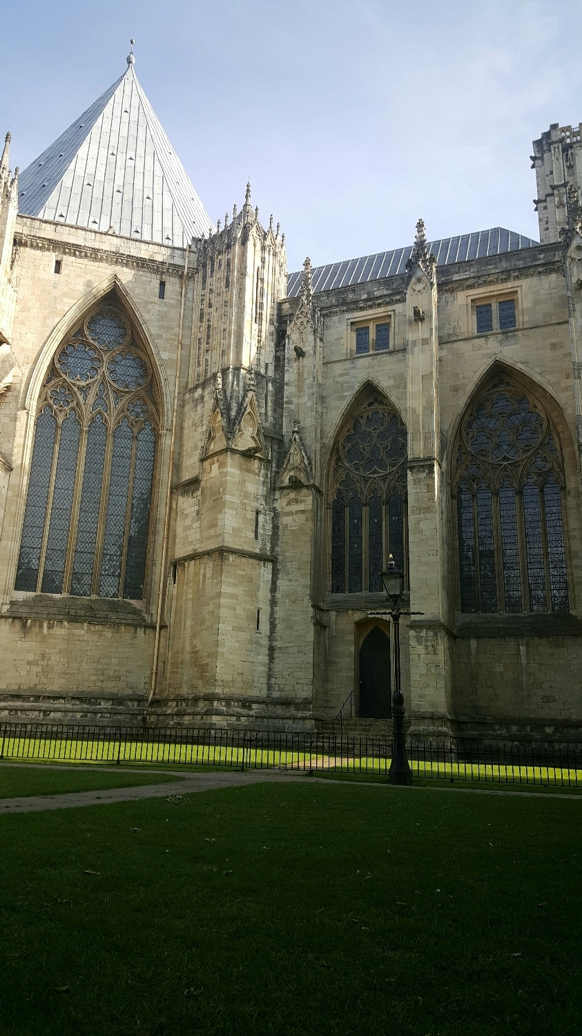 View from the lawn behind the York Minster