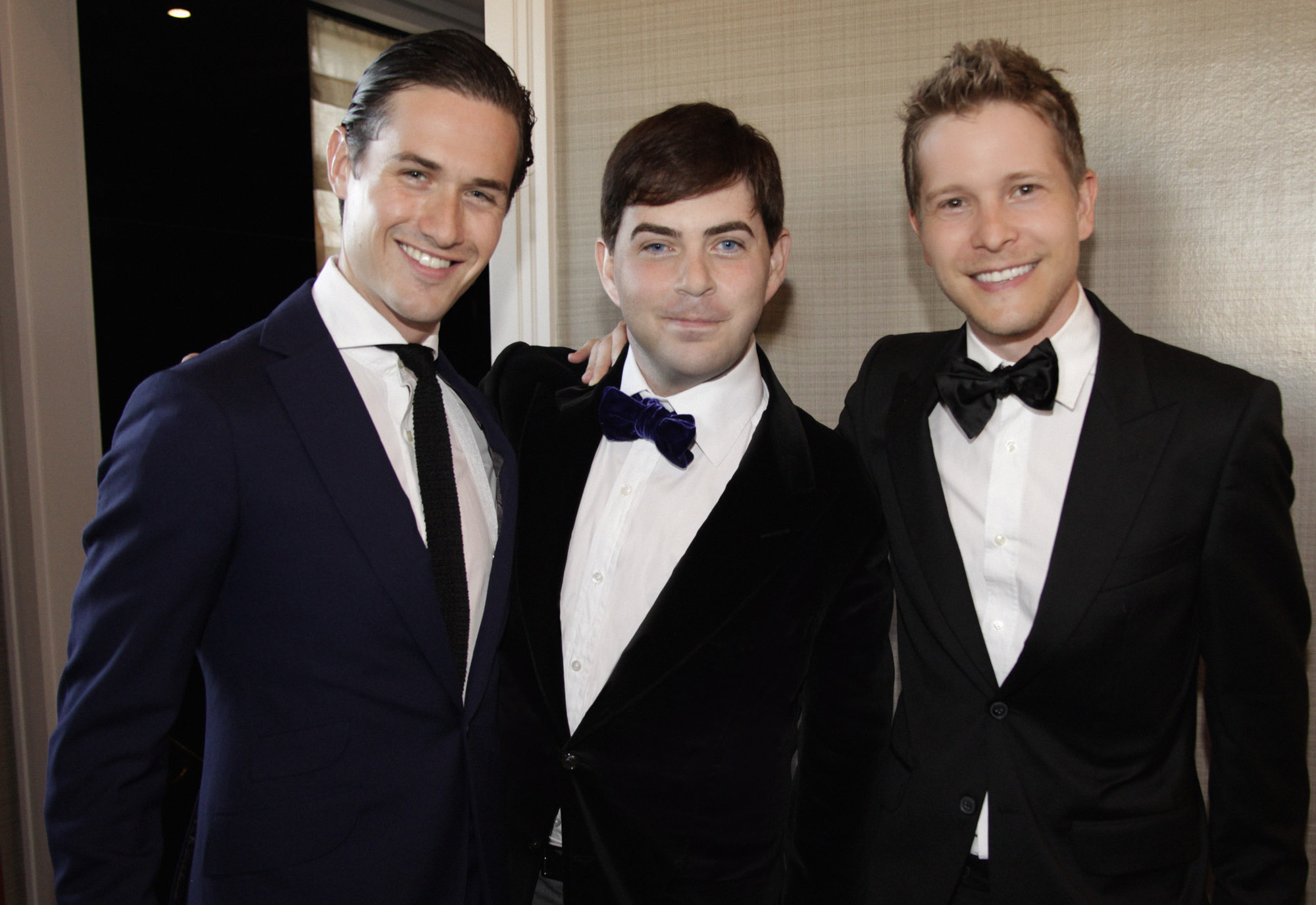 Violin virtuoso Charlie Siem with 360bespoke founder Jeremy Murphy and actor Matt Czuchry at The Carlyle.