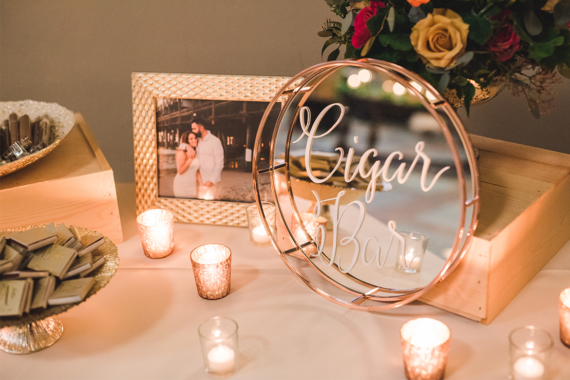 Sweet + Crafty   Wedding mirror cigar bar sign #sweetandcrafty #weddingsignage #handlettering #calligraphy #romantic #elegant #gold #luxurywedding #customdesign #mirror #mirrorsignage #mirrorsign #wedding #calarealwedding #livermorevalley #cigarbar #cigarbarsignage #weddingcigars #weddingcigarbar