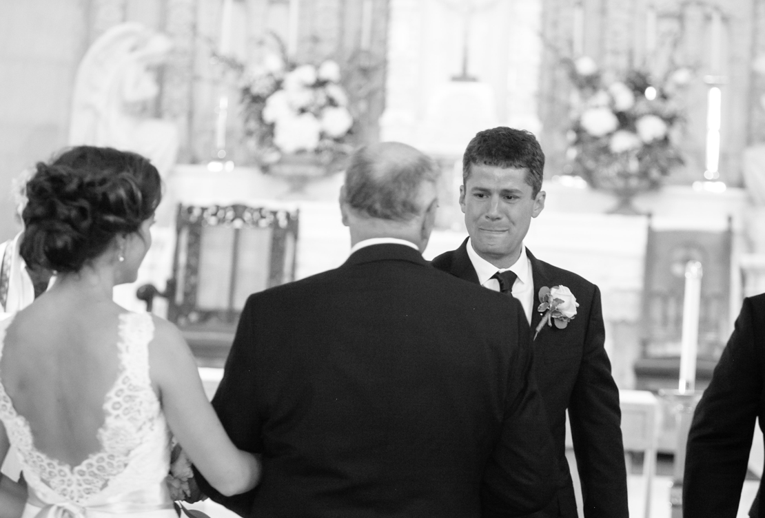 Elena and Jake's Wedding | St. Vincent's School for Boys Blue Gold and Peach Romance