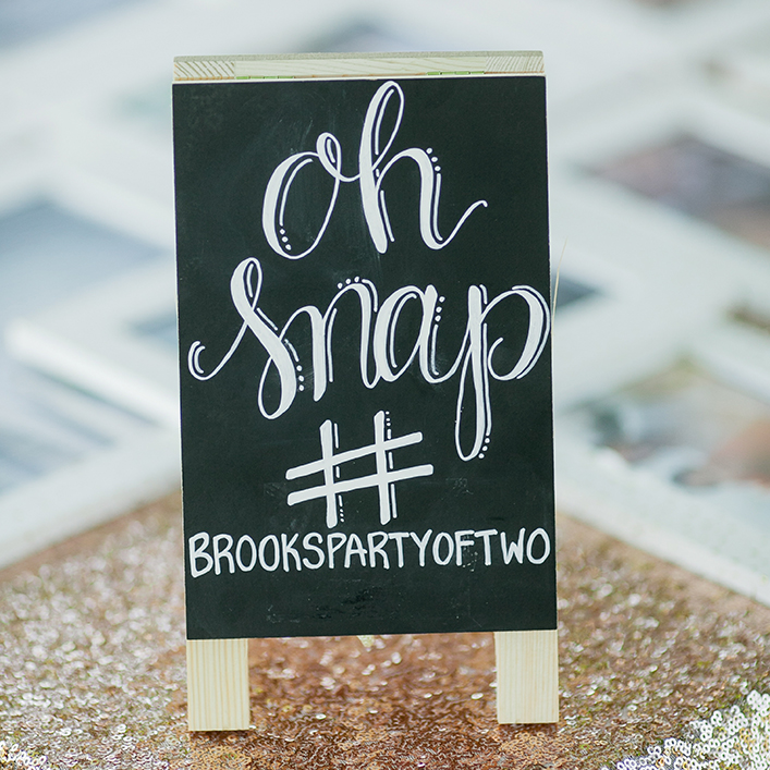 Sweet + Crafty | Chalkboard Wedding Hashtag Sign