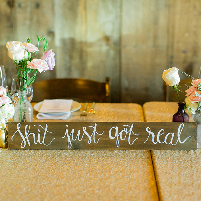 Sweet + Crafty | Wood Calligraphy Quote Sign