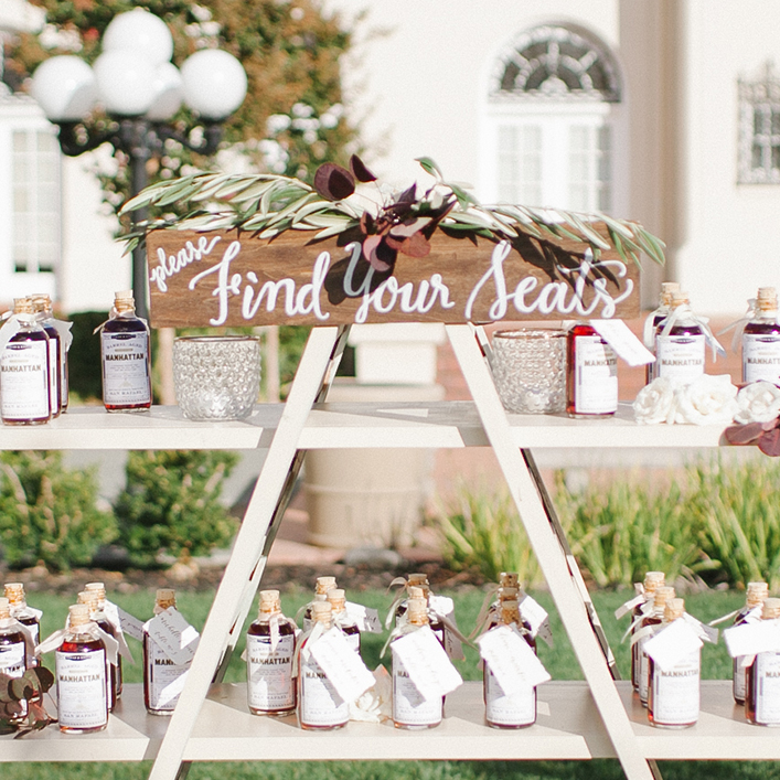 "Sweet + Crafty | Wedding Escort Card Display Wooden ""Find Your Seat"" Sign"