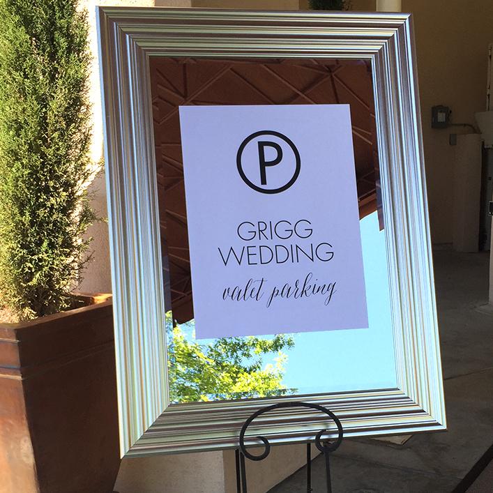 Sweet + Crafty | Wedding Valet Parking Sign