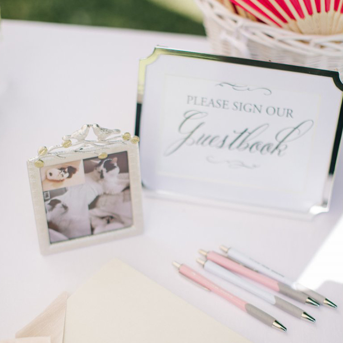 Sweet + Crafty | Framed Polaroid Guestbook Sign
