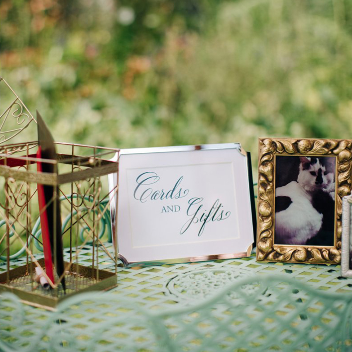 Sweet + Crafty | Framed Card and Gifts Sign