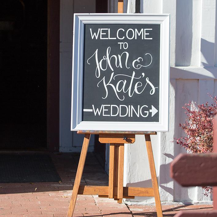 Sweet + Crafty | Wedding Chalkboard Welcome Sign Calligraphy