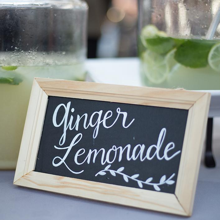 Sweet + Crafty | Chalkboard Wedding Welcome Beverage Sign Calligraphy