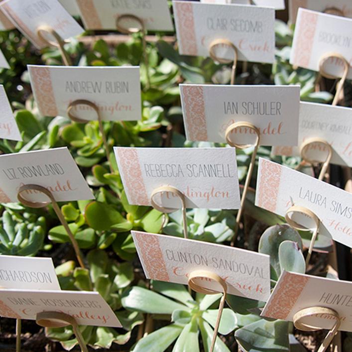 Sweet + Crafty   Wedding Escort Cards