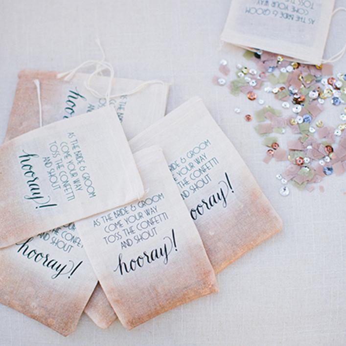 Sweet + Crafty   Wedding Custom Confetti Bags