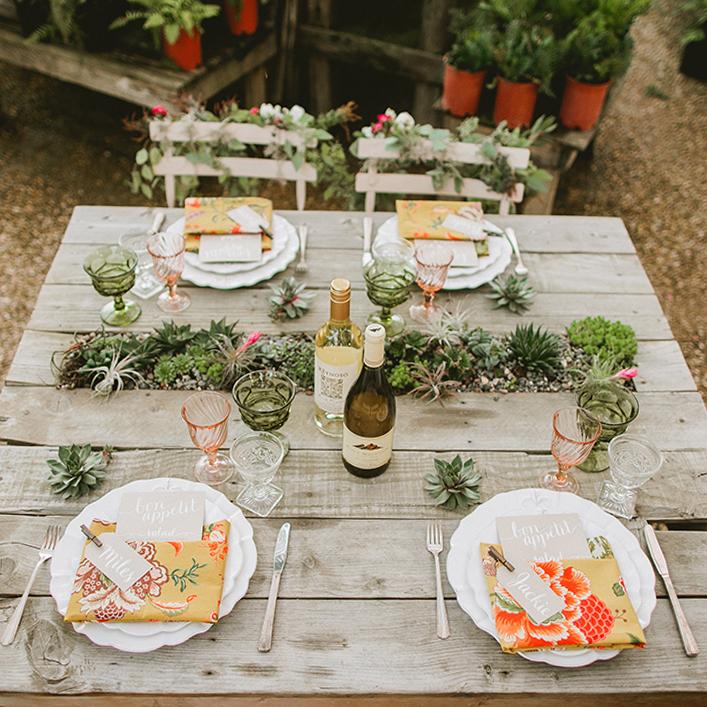 Sweet + Crafty   Wedding Vintage Garden Wedding Place Settings