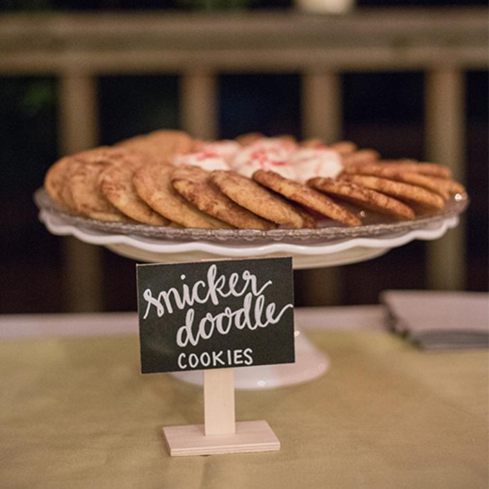 Sweet + Crafty   Wedding Chalkboard Calligraphy Dessert Signs