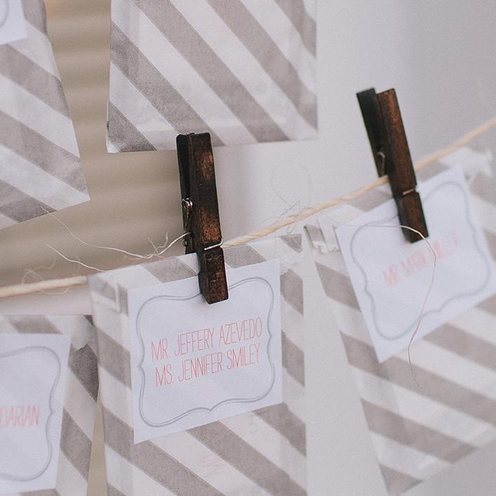 Sweet + Crafty   Wedding Escort Card Packets