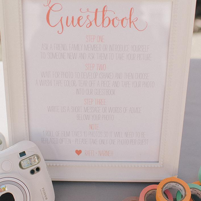 Sweet + Crafty   Wedding Guestbook Signage