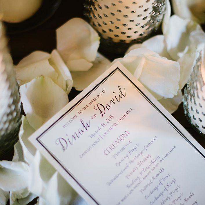 Sweet + Crafty   Wedding Program Design