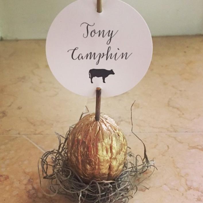 Sweet + Crafty   Wedding Place Card Design
