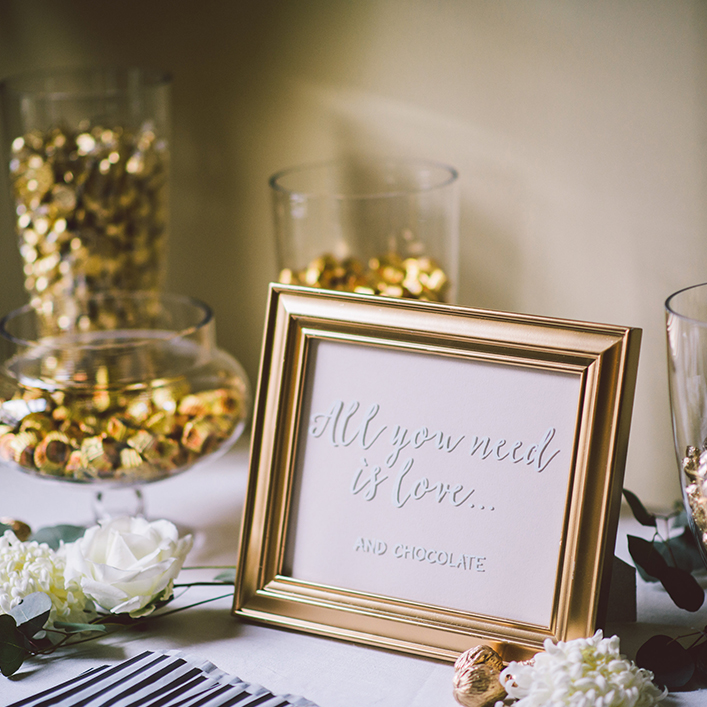 Sweet + Crafty   Wedding Calligraphy Dessert Sign